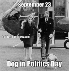 September 23 Dog in Politics Day