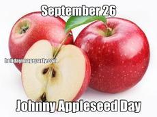 September 26 Johnny Appleseed Day