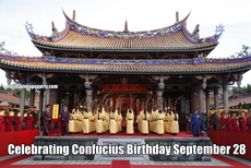 Celebrating Confucius Birthday September 28