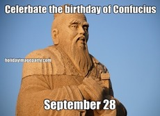 Celerbate the birthday of Confucius September 28