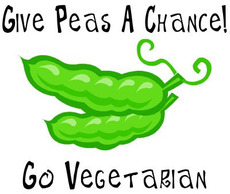 Give peas a chance Go Vegetarian