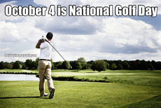 October 4 is National Golf Day