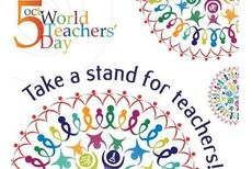 Oct 5 World Teachers' Day Take a stand for teachers
