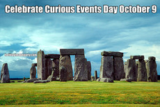 Celebrate Curious Events Day October 9