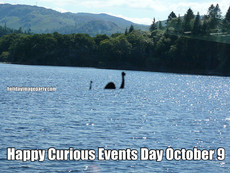 Happy Curious Events Day October 9