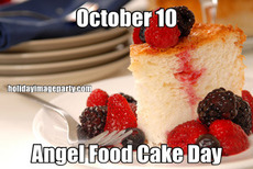 October 10 Angel Food Cake Day