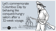 Let's commemorate Columbus Day