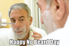 Happy No Beard Day