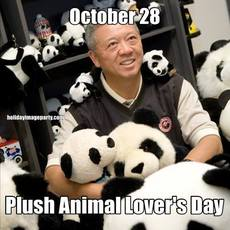 October 28 Plush Animal Lover's Day