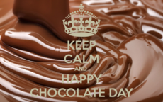 Keem calm and happy Chocolate Day