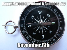 Happy Marooned Without A Compass Day November 6th
