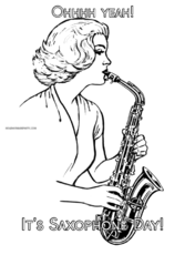 Ohhhh yeah! It's Saxophone Day!