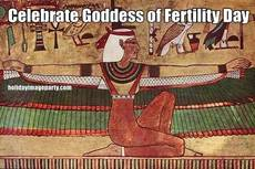 Celebrate Goddess of Fertility Day