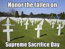 Honor the fallen on Supreme Sacrifice Day