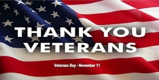 Thank you veterans November 11