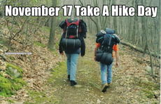 November 17 Take A Hike Day