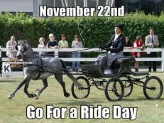 November 22nd Go For a Ride Day