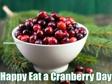Happy Eat a Cranberry Day