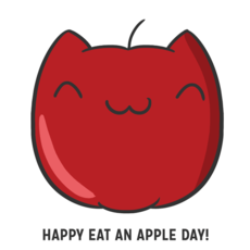 Happy eat an apple day