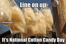 Line on up It's National Cotton Candy Day