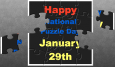 Happy National Puzzle Day January 29th
