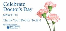 Celebrate Doctor's Day March 30. Thank your doctor today!