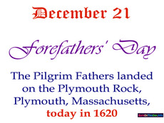December 21 Forefathers' Day