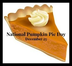 National Pumpkin Pie Day December 25
