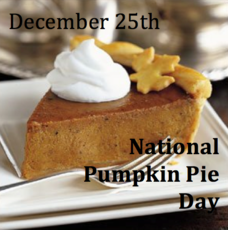 December 25th National Pumpkin Pie Day
