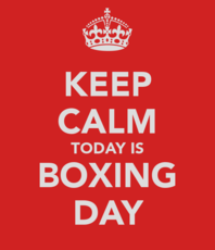 Keep calm today is Boxing Day