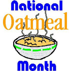 National Oatmeal Month