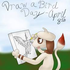 Draw a bird day april 8th