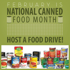 February is National Canned Food Month
