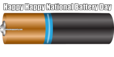 Happy Happy National Battery Day