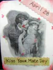 April 28 Kiss Your Mate Day