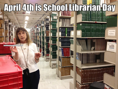 April 4th is School Librarian Day