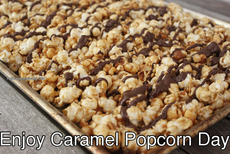 Enjoy Caramel Popcorn Day