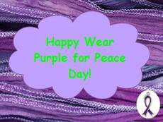 Happy Wear Purple For Peace Day!