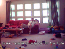 Happy Clean up Your Room Day May 10th