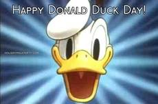 Happy Donald Duck Day!