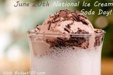 June 20th is National Ice Cream Soda Day!