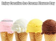 Enjoy Creative Ice Cream Flavors Day