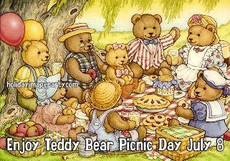 Enjoy Teddy Bear Picnic Day July 8