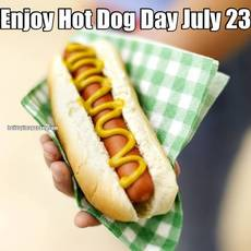 Enjoy Hot Dog Day July 23