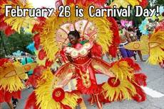 February 26 is Carnival Day!