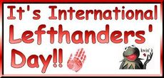 It's International Left Handers' Day